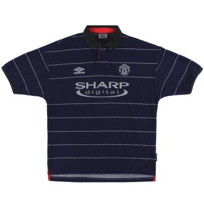 1999-00 Manchester United Umbro Away Shirt L