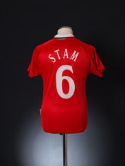 1999-00 Manchester United CL Winners Shirt Stam #6 L.Boys