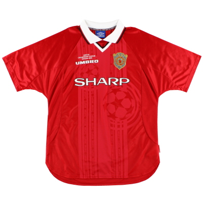 1999-00 Manchester United Umbro CL Winners Shirt L