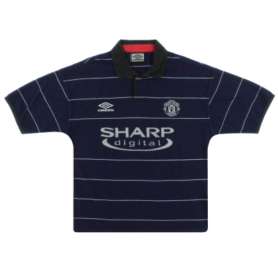 1999-00 Manchester United Umbro Away Shirt M.Boys