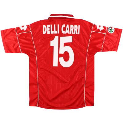1999-00 Piacenza Lotto Match Issue Home Shirt Delli Carri #15 XL