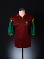 1999-00 Portugal Home Shirt *Mint* XL