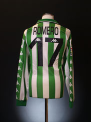 1999-00 Real Betis Player Issue Home Shirt Romero #17 L/S XL