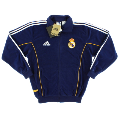 1999-00 Real Madrid adidas Fleece Presentation Jacket *w/tags* S