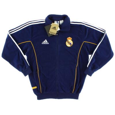 1999-00 Real Madrid adidas Fleece Presentation Jacket *w/tags* S