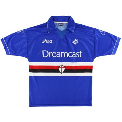 1999-00 Sampdoria Asics Home Shirt M