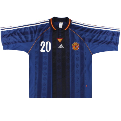 1999-00 Spain adidas Match Issue Away Shirt #20 XL