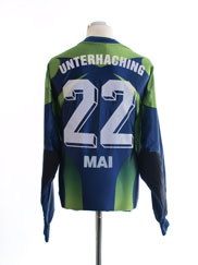 1999-00 Unterhaching Match Issue GK Shirt Mai #22 XXL