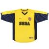 1999-01 Arsenal Away Shirt Vieira #4 XL