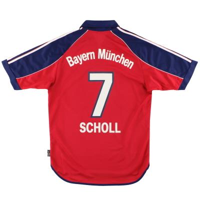 1999-01 Bayern Munich adidas Home Shirt Scholl #7 S