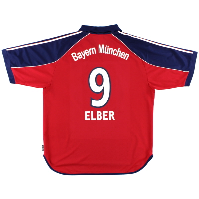 1999-01 Bayern Munich Home Shirt Elber #9 XL