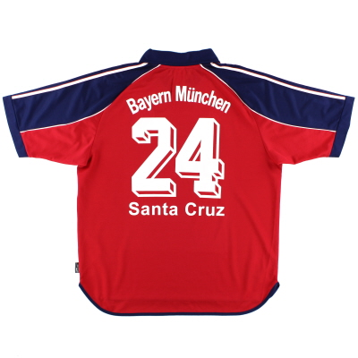1999-01 Bayern Munich Home Shirt Santa Cruz #24 XL