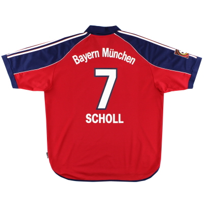 1999-01 Bayern Munich Home Shirt Scholl #7 XL