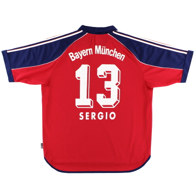 1999-01 Bayern Munich Home Shirt Sergio #13 XL