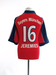 1999-01 Bayern Munich Home Shirt Jeremies #16 *Mint* M
