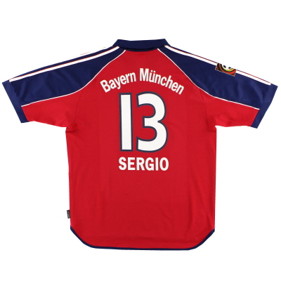 1999-01 Bayern Munich Home Shirt Sergio #13 L
