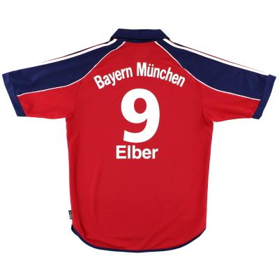 1999-01 Bayern Munich adidas Home Shirt Elber #9 L