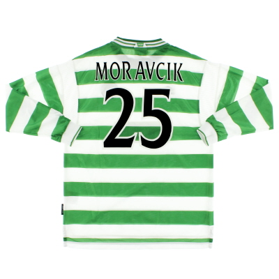1999-01 Celtic Home Shirt Moravcik #25 L/S *Mint* XL
