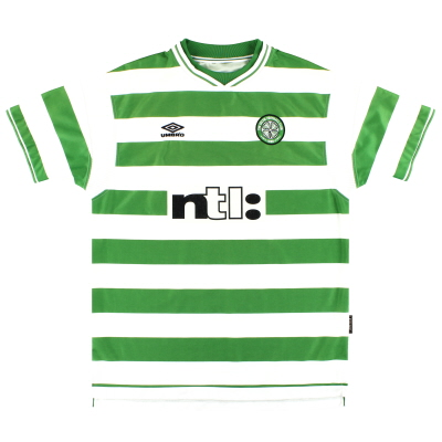 1999-01 Celtic Umbro Home Shirt XL
