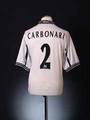1999-01 Derby County Home Shirt Carbonari #2 L