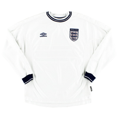 1999-01 England Home Shirt L/S L