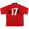 1999-01 England Player Issue Away Shirt #17 L/S XL