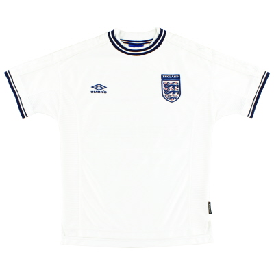 1999-01 England Umbro Home Shirt L