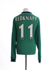1999-01 Liverpool Away Shirt Redknapp #11 L/S XL