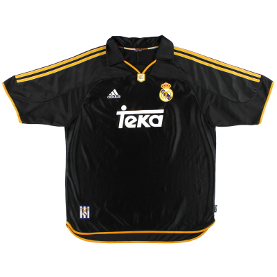 1999-01 Real Madrid adidas Away Shirt M