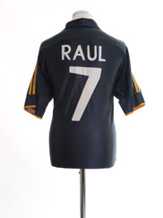 1999-01 Real Madrid Away Shirt Raul #7 M