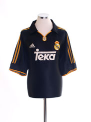 1999-01 Real Madrid Away Shirt XXL