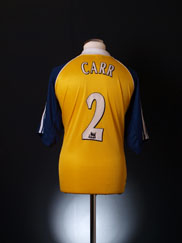 1999-01 Tottenham Away Shirt Carr #2 XL