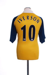 1999-01 Tottenham Away Shirt Iverson #10 M