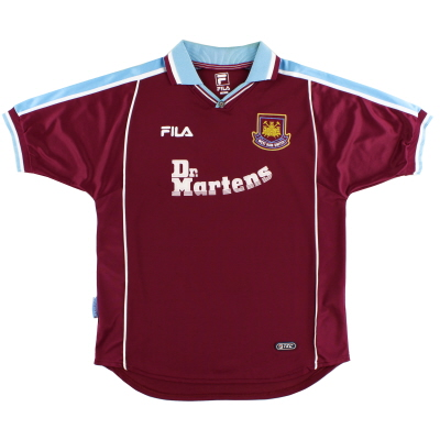 1999-01 West Ham Fila Home Shirt S