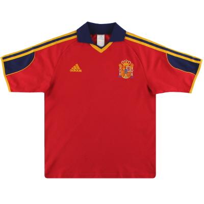 1999-02 Spain adidas Basic Home Shirt S