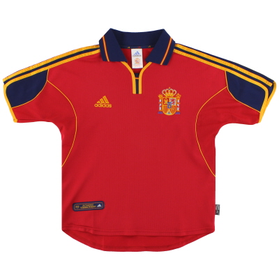 1999-02 Spain adidas Home Shirt Y