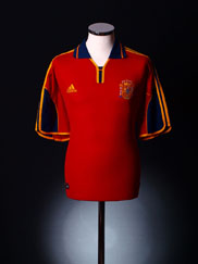 1999-02 Spain Home Shirt M