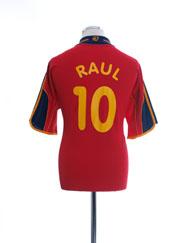 1999-02 Spain Home Shirt Raul #10 L