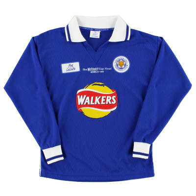 1999 Leicester Fox Leisure 'Worthington Cup Final' Home Shirt L/S *Mint* Y