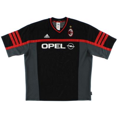 2000-01 AC Milan adidas Training Shirt XL
