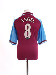 2000-01 Aston Villa Home Shirt Angel #8 L