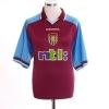 2000-01 Aston Villa Home Shirt Angel #8 L