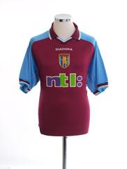 2000-01 Aston Villa Home Shirt XL