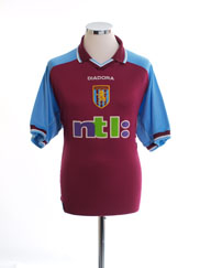 2000-01 Aston Villa Home Shirt XL