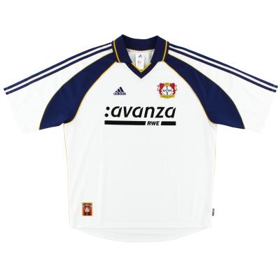 2000-01 Bayer Leverkusen adidas Away Shirt *Mint* XL