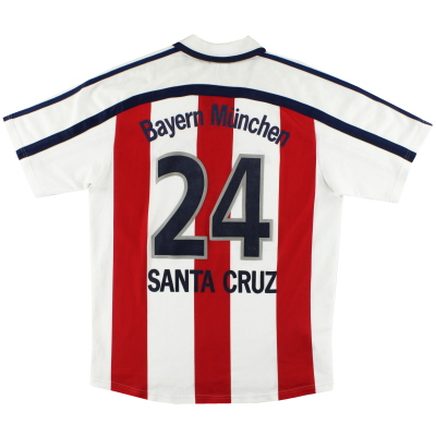 2000-01 Bayern Munich adidas Away Shirt Santa Cruz #24 M