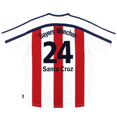 2000-01 Bayern Munich Away Shirt Santa Cruz #24 L