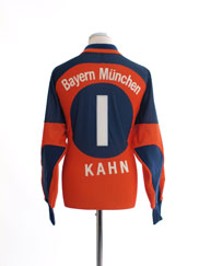 2000-01 Bayern Munich Goalkeeper Shirt Kahn #1 L