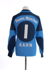 2000-01 Bayern Munich Goalkeeper Shirt Kahn #1 S