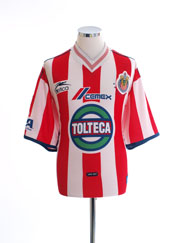 2000-01 Chivas Guadalajara Signed Home Shirt L